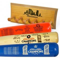 Astros 2017 World Series Champs Three Bat Set & Display Rack