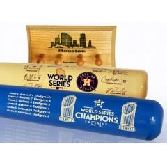 Astros 2017 Pennant & World Series Champs Two Bat Set with Display