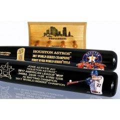 Altuve MVP & Astros Celebration Two Bat Set with Display Rack