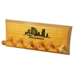 Houston Skyline 3 Bat Display Rack
