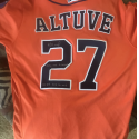 Jose Altuve Signed & Inscribed Game Worn Jersey