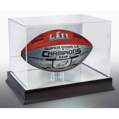 Eagles Super Bowl LII Champs Wilson Commemorative Game Model Ball and Display Case
