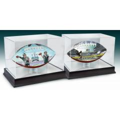 Eagles Super Bowl LII & NFC Champions Art Ball Set with Display Cases