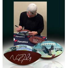Nick Foles Autographed Super Bowl LII Champs Commemorative Art Bal