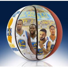EXCLUSIVE Warriors Back 2 Back NBA Champs Commemorative Art Ball