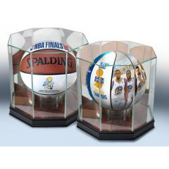 Warriors 2018 NBA Champs Two Ball Set with Display Cases