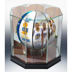 Warriors 2018 Champs Art Ball and Display Case Combo