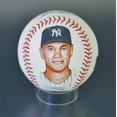 Giancarlo Stanton Hand Painted and Signed MLB Baseball