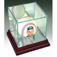 Chipper Jones Hand Painted and Signed Baseball model 3
