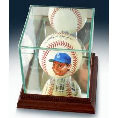 Sandy Koufax Signed & Hand Painted MLB Baseball in Display Case
