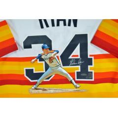 Nolan Ryan Signed & Hand Painted Authentic Jersey