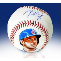 Kris Bryant Signed & Hand Painted Baseball