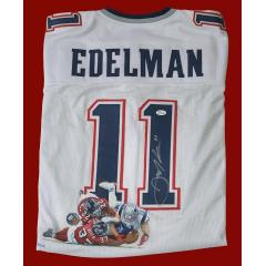 Julian Edelman Signed & Hand Painted Jersey
