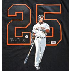 Barry Bonds Signed & Hand Painted Jersey