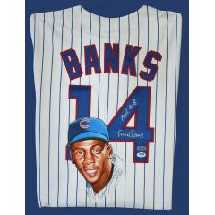 Ernie Banks Signed & Hand Painted Authentic Cubs Jersey