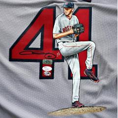 Chris Sale Signed & Hand Painted Jersey