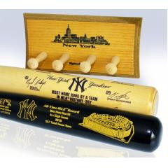 NY Yankees All-Time MLB Home Run Record Two Bat Set