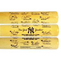 NY Yankees MLB Home Run Record Signature Bat