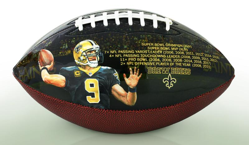 eaa5af8e4b5 $10 for every football sold will be donated to the Brees Dream Foundation.