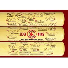 Boston Red Sox 108 Wins Team Signature Bat