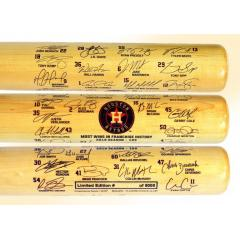 Houston Astros 103 Wins Team Signature Bat
