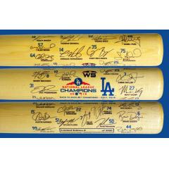LA Dodgers 2018 World Series Team Signature Bat