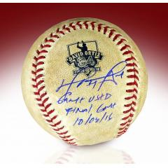 David Ortiz Signed & Game Used Final Game Baseball