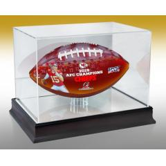 Chiefs First AFC Championship Art Football & Display Case
