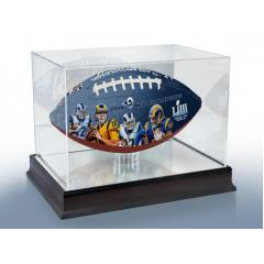 Rams Super Bowl LIII Commemorative Football & Display