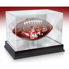 Patrick Mahomes II 2018 NFL MVP Art Football & Display Case