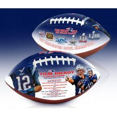 Tom Brady Six Time Super Bowl Champion Art Football