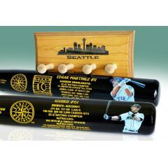Ichiro & Edgar Martinez Seattle Two Bat Set