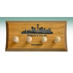 Seattle Skyline 2 Bat Display Rack