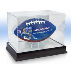 Saquon Barkley 2018 NFL Offensive ROY Art Ball & Display Case