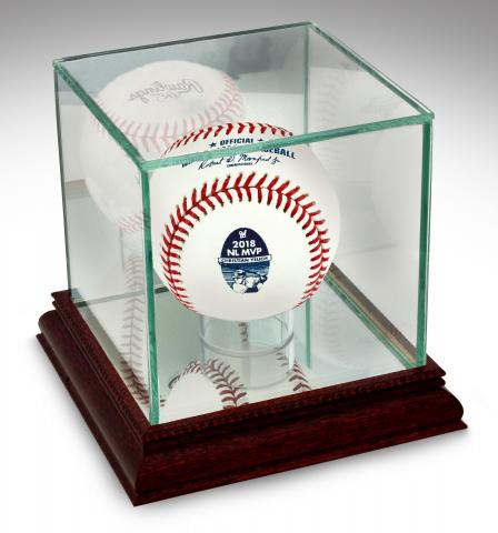 e615e87d4 BigTimeBats.com - Christian Yelich NL MVP Rawlings Baseball in Glass ...
