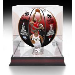 Raptors 1st Ever Eastern Conference Championship Art Ball & Case Set