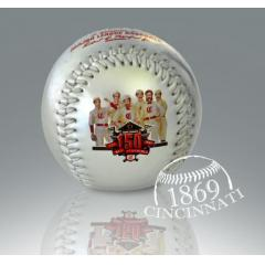 Reds 150th Anniversary Chrome Baseball