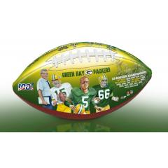 Green Bay Packers NFL 100th Legacy Art Football