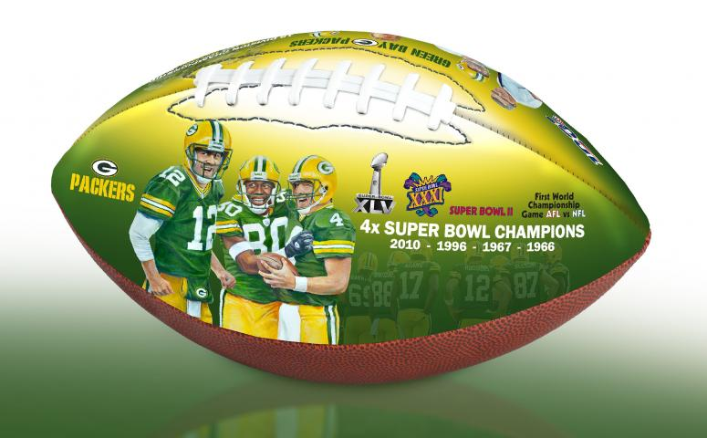 hot sale online c5054 102e8 BigTimeBats.com - Green Bay Packers NFL 100th Legacy Art ...