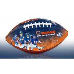 Chicago Bears NFL 100th Legacy Art Football
