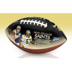 New Orleans Saints NFL 100th Legacy Art Football