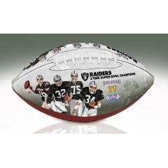 Oakland Raiders NFL 100th Legacy Art Football