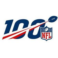 Denver Broncos NFL 100th Legacy Art Football