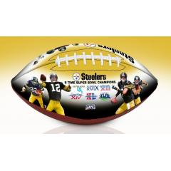 Pittsburgh Steelers NFL 100th Legacy Art Football