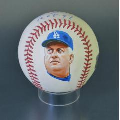 Tommy Lasorda Signed Inscribed & Hand Painted MLB Baseball