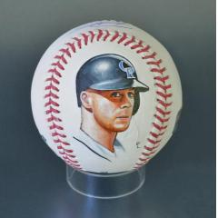 Trevor Story Signed & Hand Painted MLB Baseball