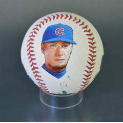Javier Baez Signed & Hand Painted MLB Baseball