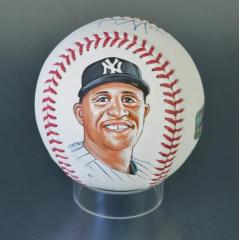 CC Sabathia Signed & Hand Painted MLB Baseball