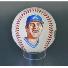 Dale Murphy Signed Inscribed & Hand Painted MLB Baseball