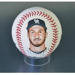 Nolan Arenado Signed & Hand Painted MLB Baseball